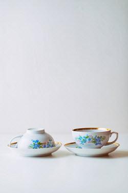 Krasimira Petrova Shishkova two vintage tea cups