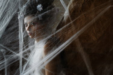Kirill Sakryukin WOMAN WITH WINGS COVERD WITH COBWEBS Women