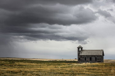 Rodney Harvey OLD CHURCH IN STORMY COUNTRYSIDE Religious Buildings