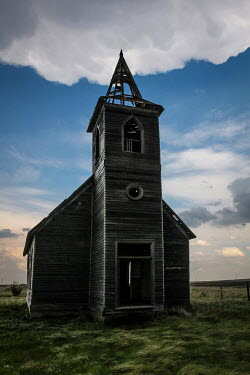 Rodney Harvey DERELICT WOODEN CHURCH IN COUNTRYSIDE Religious Buildings