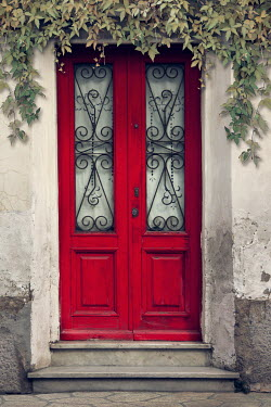 Victoria Davies WOODEN RED FRONT DOOR Building Detail