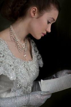 Lee Avison wealthy historical woman reading letter Women