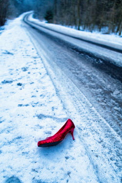 Magdalena Russocka RED FEMALE SHOW ON SNOWY ROAD Miscellaneous Objects