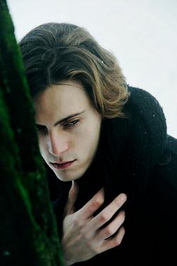 Giovan Battista D'Achille UNHAPPY YOUNG MAN IN WINTER COAT Men