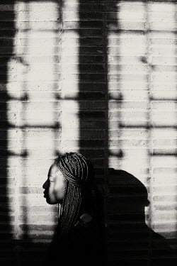 Giovan Battista D'Achille PROFILE OF BLACK GIRL WITH SHADOWS Women