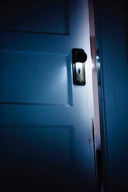 Jean Ladzinski DOOR IN HOUSE AJAR AT NIGHT Building Detail
