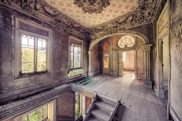 Christophe Dessaigne INTERIOR OF DERELICT GRAND PALACE Interiors/Rooms