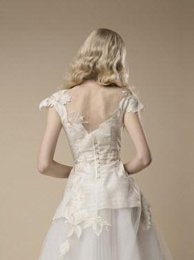 Virginia Ateh BLONDE BRIDE IN DRESS FROM BEHIND Women