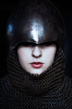 Magdalena Russocka close up of medieval woman in armor