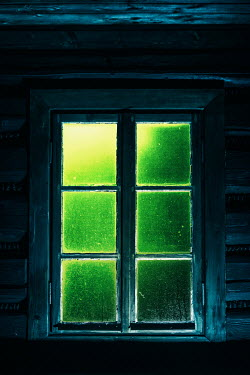 Magdalena Russocka window of old cottage with light on