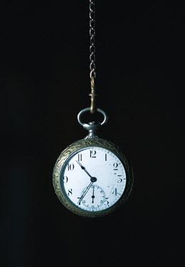 Magdalena Russocka antique fob watch hanging inside