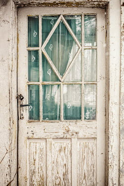 Svetoslava Madarova DOOR IN OLD WHITE WOODEN HOUSE Building Detail