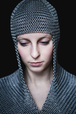 Magdalena Russocka close up of medieval woman in chainmail Women