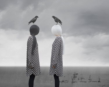 Patty Maher TWO WOMEN BY SEA WITH BIRDS Women