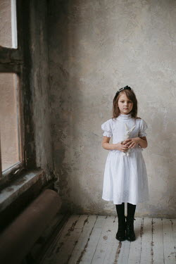 Alina Zhidovinova HISTORICAL GIRL WITH TOY INDOORS Children