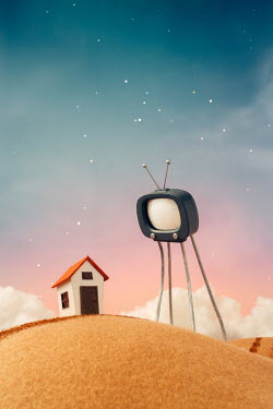 Hardi Saputra MODEL OF TV WITH HOUSE IN COUNTRYSIDE Miscellaneous Objects