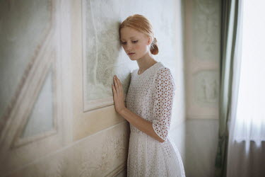 Monia Merlo DAYDREAMING WOMAN IN GRAND INTERIOR Women