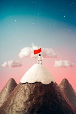 Hardi Saputra TOY ASTRONAUT HOLDING RED FLAG Miscellaneous Objects
