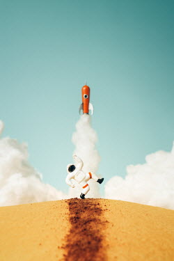 Hardi Saputra TOY ASTRONAUT AND ROCKET Miscellaneous Objects