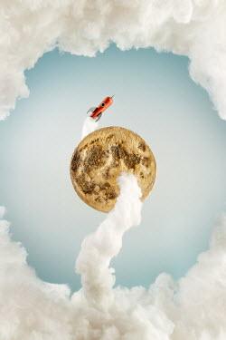 Hardi Saputra TOY ROCKET FLYING AROUND MOON Miscellaneous Objects