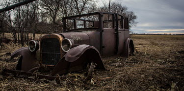 Rodney Harvey ABANDONED CLASSIC CAR IN FIELD Cars