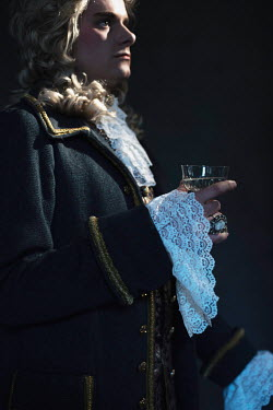 Ysbrand Cosijn CLOSE UP OF HISTORICAL MAN HOLDING DRINK Men