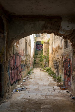 Colin Hutton OLD PASSAGEWAY AND TUNNEL WITH GRAFFITI Stairs/Steps