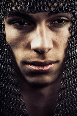 Magdalena Russocka medieval young man in chainmail