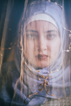 Mohamad Itani MUSLIM WOMAN LOOKING THROUGH VEIL Women