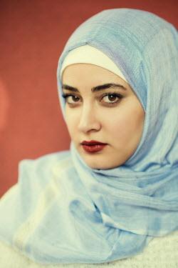 Mohamad Itani MUSLIM WOMAN IN BLUE HIJAB Women