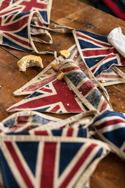 Colin Hutton UNION JACK BUNTING AND PASTRY CRUMBS Interiors/Rooms