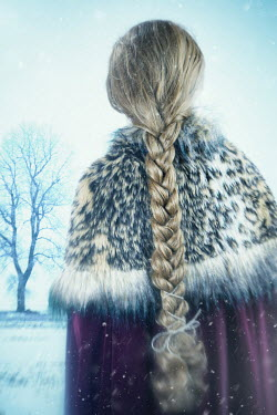 Magdalena Russocka medieval woman standing in snowy field