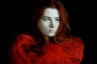Daria Amaranth RED HAIRED WOMAN WEARING RED TOP Women