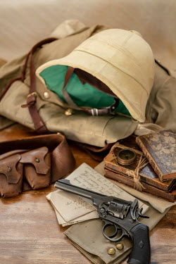 CollaborationJS still life of a british officers uniform  for the boar war
