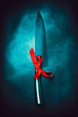 Ildiko Neer Steel knife with red ribbon