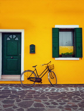 Elisabeth Ansley BICYCLE IN FRONT OF YELLOW HOUSE Miscellaneous Transport