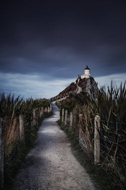 Evelina Kremsdorf PATH TO LIGHTHOUSE ON CLIFFTOP Miscellaneous Buildings