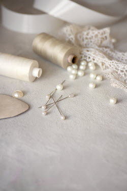 Galya Ivanova WHITE LACE PEARLS AND THREAD Miscellaneous Objects