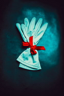 Ildiko Neer Gloves with red ribbon