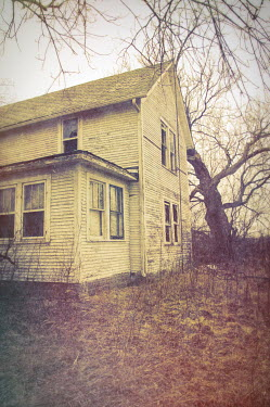 Jill Battaglia SHABBY WOODEN HOUSE IN WINTER Houses