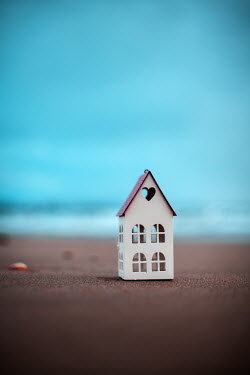 Nilufer Barin MINITURE HOUSE ON BEACH AT DUSK Miscellaneous Objects
