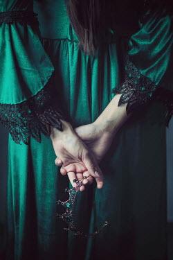Ildiko Neer Medieval woman holding a crown