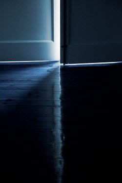 Miguel Sobreira WHITE DOOR AJAR IN SHADOW Interiors/Rooms