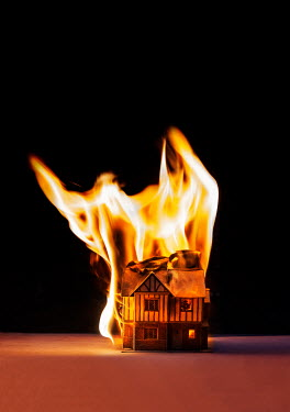 Stephen Mulcahey A miniature house on fire Miscellaneous Objects