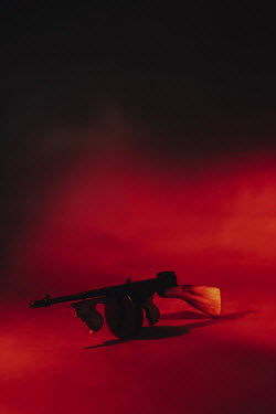 Ysbrand Cosijn MACHINE GUN IN SMOKY RED ROOM Weapons