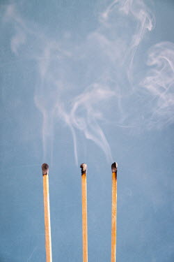 Peter Chadwick THREE BURNT MATCHES WITH SMOKE Miscellaneous Objects
