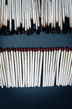 Rekha Garton ROWS OF BURNT AND UNBURNT MATCHES Miscellaneous Objects