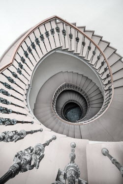 Jaroslaw Blaminsky EMPTY SPIRAL STAIRCASE FROM ABOVE Stairs/Steps