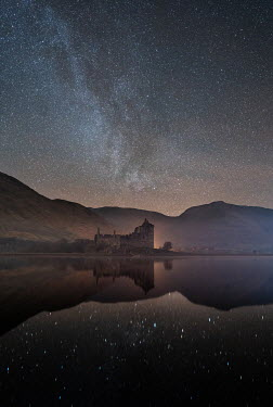 Ollie Taylor CASTLE BY LAKE WITH STARRY SKY Houses