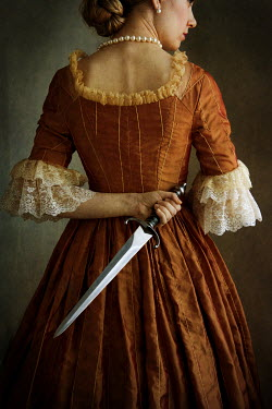 Lee Avison HISTORICAL WOMAN WITH KNIFE BEHIND BACK Women